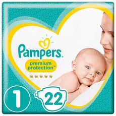PAMPERS Premium protection couches taille 1 (2-5kg) 22 couches