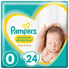 PAMPERS New baby micro premium protection couches taille 0 (1-2,5 kg) 24 couches