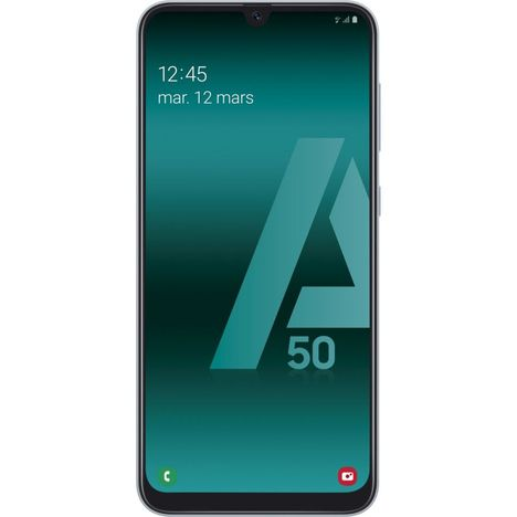 SAMSUNG Smartphone - GALAXY A50 - 128 Go - 6.4 pouces - Blanc - 4G - Double port Nano SIM