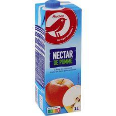 AUCHAN Nectar de pomme à base de concentré brique 1l