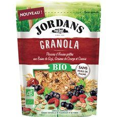 JORDAN'S Jordans granola baies de goji cassis et graines bio 400g