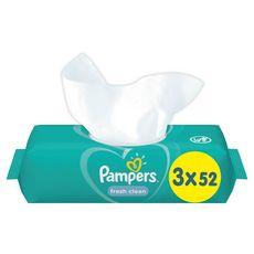 PAMPERS Fresh Clean lingettes nettoyantes pour bébé 156 lingettes