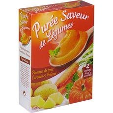 Purée pomme de terre carotte potiron 160g