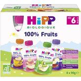 HiPP gourde mulipack 4 variétés 8x90g dès 6 mois