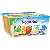 Nestlé Naturnes coupelles pommes poires coing bio 4x90g dès 6 mois