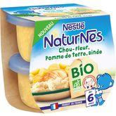 Nestlé Naturnes chou fleur pomme de terre dinde bio 2x190g 6mois