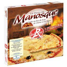 MANOSQUE Pizza 3 fromages cuite au feu de bois 430g