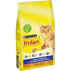 FRISKIES Croquettes à la dinde et légumes pour chat stérilisé 7,5kg
