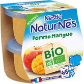 Nestlé bio naturnes bols fruits pomme mangue 2x115g