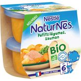 Nestlé Nestlé Naturnes bol petits légumes et saumon bio dès 6 mois 2x190g