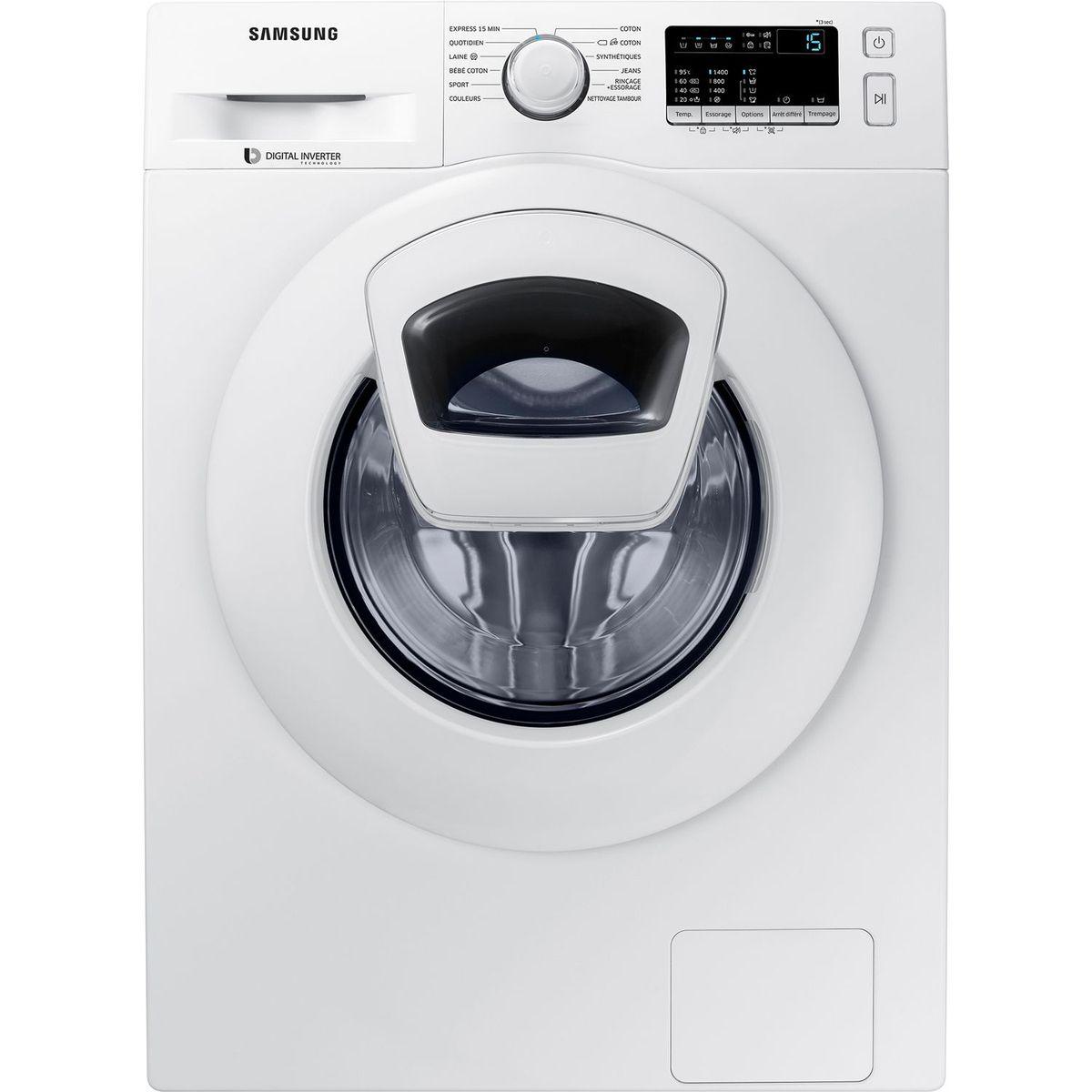 Lave linge hublot WW90K4430YW, 9 Kg, 1400 T/min, Hublot additionnel Add Wash