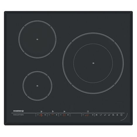 ROSIERES Table de cuisson induction RPI342, 59 cm, 3 Foyers
