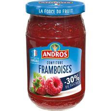 ANDROS Confiture de framboises allégée en sucres 350g