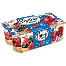 PANIER DE YOPLAIT Yaourt allégé aux fruits rouges 0% 8x130g