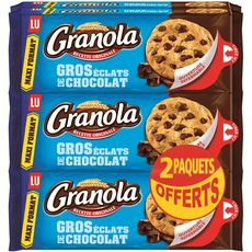 GRANOLA Granola cookies maxi chocolat 4x276g +2offerts