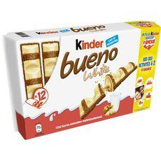 KINDER Kinder Bueno white barres chocolatées 12x2 barres 468g 12x2 barres 468g