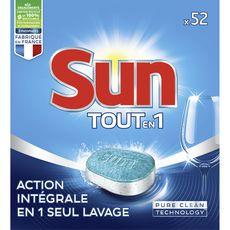Sun tablettes lave-vaisselle tout en 1 standard x52 -0,91kg