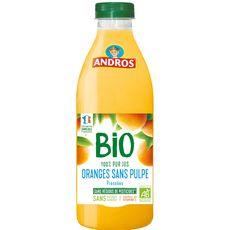 Andros Pur jus d'oranges bio sans pulpe 75cl