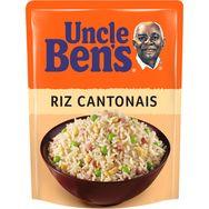 Uncle Ben's riz express cantonais 2 minutes micro-onde 250g