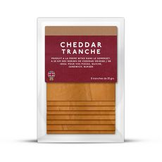 WYKEFARMS Fromage cheddar tranché 8 tranches 160g