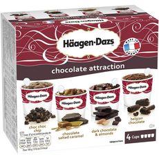 HAAGEN DAZS Häagen Dazs minicup chocolat x4 -365g