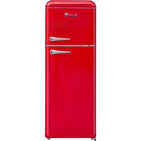 TRIOMPH Réfrigérateur 2 portes TLDP208R, 208 L, Froid statique