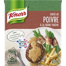 KNORR Knorr Sauce au poivre et à la crème fraîche, fabriqué en Alsace 30cl 30cl