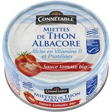 Connetable bio émietté de thon à la sauce tomate MSC 160g