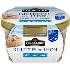 Connetable CONNETABLE Rillettes de thon MSC aux aromates bio, préparé en Bretagne