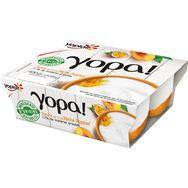 Yopa yaourt sur lit de pêche et passion 4x100g