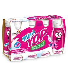 Yop mini yaourts à boire arôme framboise 8x100g