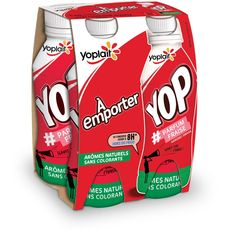Yop and go fraise 4x250g