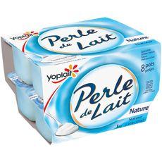 YOPLAIT Perle de lait nature 8x125g