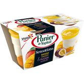 Yoplait Panier de Yoplait triple sensation passion mangue 2x125g