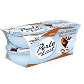 Yoplait Perle de Lait caramel chocolat tentation 4x100g