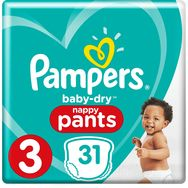 Pampers Baby-dry pants couches-culottes taille 3 (6-11kg) x31