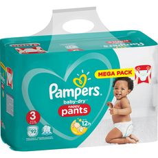 PAMPERS Baby-dry pants culottes taille 3 (6-11kg) 92 couches