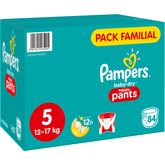 Pampers baby dry pants family pack x84 taille 5