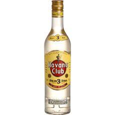HAVANA CLUB Rhum blanc cubain 3 ans 40% 70cl