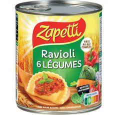 ZAPETTI Zapetti ravioli aux 6 légumes sauce tomate basilic 800g