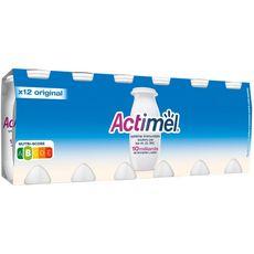 ACTIMEL Lait fermenté à boire nature 12x100g