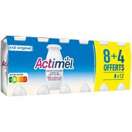 Actimel ACTIMEL Yaourt à boire au lait fermenté nature 8x100g+4offertes