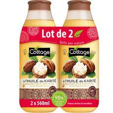 Cottage douche huile de karité 2x560ml