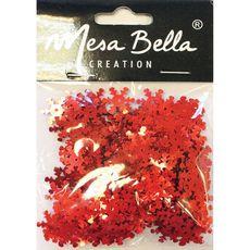 Mesa Bella Decoration de table flocons rouge x1