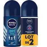 Nestlé Nivea Men Dry Fresh déodorant bille homme anti-transpirant 48h 2x50ml