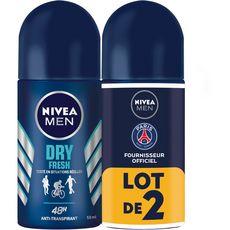 Nivea Men déodorant homme bille dry fresh 2x50ml