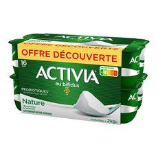 ACTIVIA Yaourt au bifidus nature 16x125g