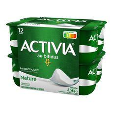 ACTIVIA Yaourt bifidus nature 12x125g