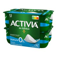 ACTIVIA Yaourt bifidus nature 0% MG 12x125g