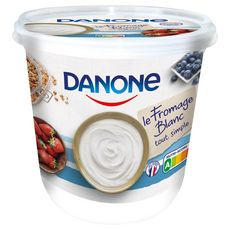 DANONE Fromage blanc nature 3,2% MG 825g